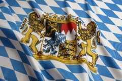 Flag of Bavaria Royalty Free Stock Image