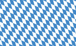Flag of Bavaria. State flag of Bavaria in Germany Royalty Free Stock Photo