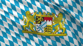 Flag of Bavaria seamless loop Stock Photos