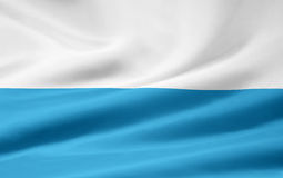 Flag of Bavaria - striped version. Very large version of a bavarian flag. This version is the official striped version Royalty Free Stock Photography