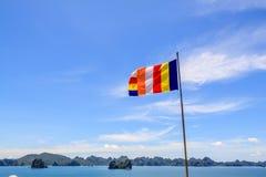 Flag beach near Ha long bay Royalty Free Stock Photos