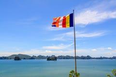Flag beach near Ha long bay Stock Photography