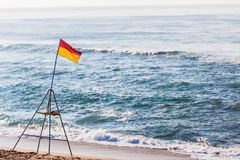 Flag Beacon Beach Swim Lifeguards Stock Photos