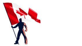 Flag Bearer Canada stock video footage