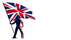 Flag Bearer United Kingdom. Isolated flag bearer holding the flag of United Kingdom stock video