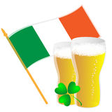Flag and beer Stock Photography