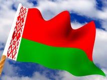 Flag. Belarus. 3d Very beautiful three-dimensional illustration, figure Stock Photography