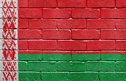 Flag of Belarus on brick wall Stock Photography