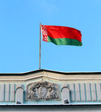 Flag of Belarus. Belarus flag on the embassy building in Moscow Royalty Free Stock Photo