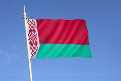 Flag of Belarus. Introduced in 2012 by the State Committee for Standardization of the Republic of Belarus, and is adapted from a design approved in a Stock Image