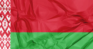 Flag of Belarus. The national Belarus waving flag in 3d background Royalty Free Stock Photography