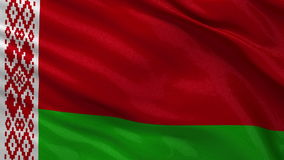 Flag of Belarus seamless loop Royalty Free Stock Images