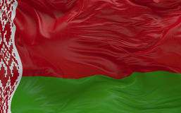 Flag of the Belarus waving in the wind 3d render Royalty Free Stock Image
