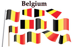 Flag of Belgium. Set of flags of Belgium vector illustration Stock Image
