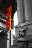 Flag of Belgium. New memoirs on old Belgium Stock Photos
