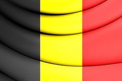 Flag of Belgium. 3D Flag of the Belgium. Close Up Royalty Free Stock Photo