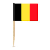 Flag of Belgium. Flag toothpick 10eps Stock Photo