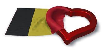 Flag of belgium and heart symbol Stock Photo