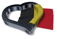 Flag of belgium and heart symbol Royalty Free Stock Images