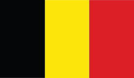 Flag of belgium  icon illustration Royalty Free Stock Photography