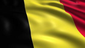 Flag of Belgium (loop) stock footage