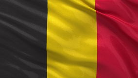 Flag of Belgium seamless loop Royalty Free Stock Photography