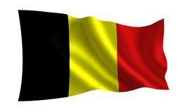 Flag of Belgium. A series of flags of the world royalty free illustration