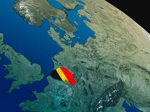 Flag of Belgium from space Stock Images