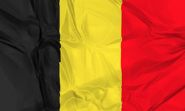 Flag of Belgium waving Stock Image
