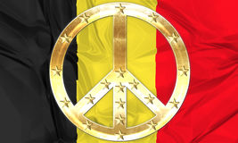 Flag of Belgium waving Stock Photo