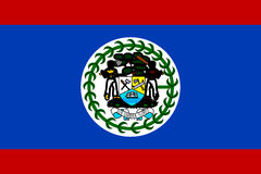 Flag of Belize Stock Photography