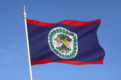 Flag of Belize - Central America Stock Photo