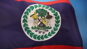Flag of Belize - Central America Royalty Free Stock Photos