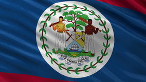 Flag of Belize seamless loop Stock Image