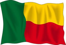 Flag of Benin Stock Photo