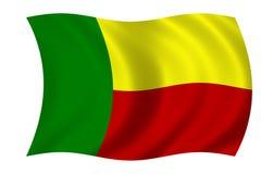 Flag of benin. Waving flag of benin Stock Illustration