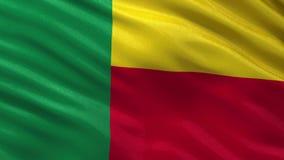 Flag of Benin seamless loop stock video footage