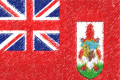 Flag of Bermuda background o texture, color pencil effect. Royalty Free Stock Photography
