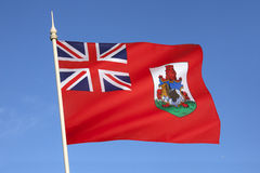 Flag of Bermuda - The Caribbean Stock Photo