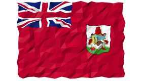 Flag of Bermuda 3D Wallpaper Animation stock video footage