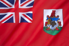 Flag of Bermuda. The Flag of Bermuda was adopted on 4th October 1910. It is a British Red Ensign and is unusual for a British overseas territory in that it is Stock Images