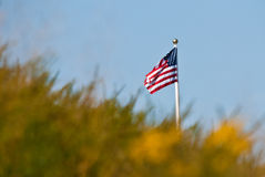 Flag Beyond The Hill Stock Image
