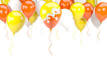 Flag of bhutan on balloons Royalty Free Stock Photos