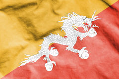 Flag of Bhutan. 3d Rendered Flag of Bhutan Royalty Free Stock Photo