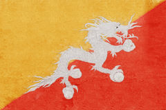 Flag of Bhutan Grunge Royalty Free Stock Photo