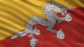 Flag of Bhutan seamless loop Royalty Free Stock Image