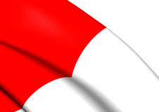 Flag of Bilbao, Spain. Stock Photo