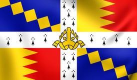 Flag of Birmingham, England. Royalty Free Stock Photography