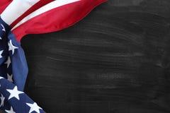 Flag on blackboard. American flag on a blackboard Royalty Free Stock Photos