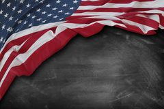 Flag on blackboard. American flag on a blackboard Royalty Free Stock Photos